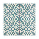 "17.63""x17.63"" Tudor Ceramic Floor and Wall Tile, Set of 5, Blue"