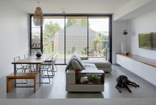 Contemporary Living Room by Rebecca Naughtin Architect