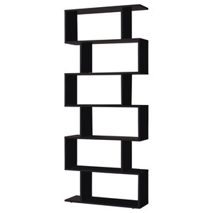 Athena Black Bookcase