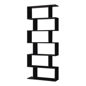Athena Black Bookcase
