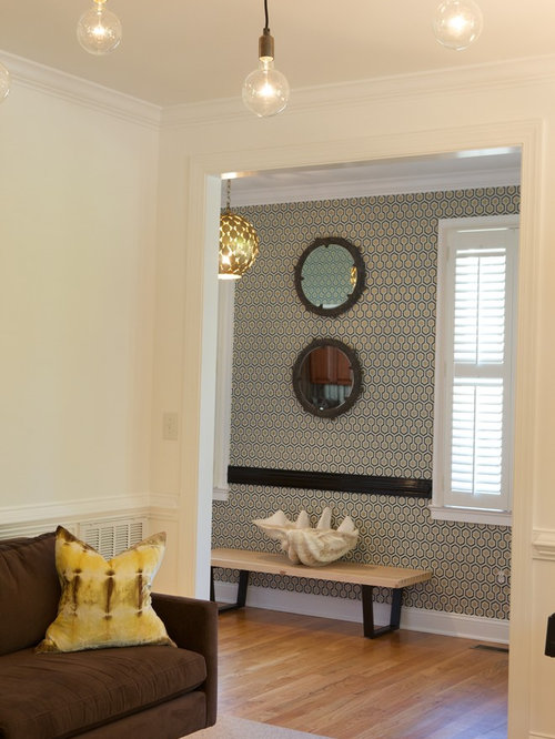 Modern Foyer Wallpaper : Entryway wallpaper houzz