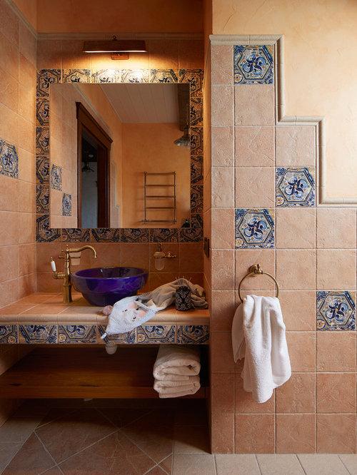 kleine badezimmer mit terrazzo waschtisch ideen. Black Bedroom Furniture Sets. Home Design Ideas