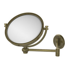 "8"" Wall Mounted Extending Make-Up Mirror 3X Magnification With Twist Accent"