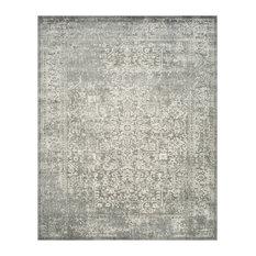 Samanna Area Rug, Silver/Ivory, 8'x10'