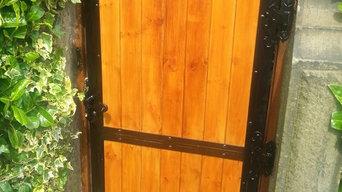 Wood Infill / Steel Frame Gate
