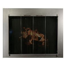 Ironhaus Hawthorne Bifold Fireplace Door With Sliding Mesh Vintage Iron