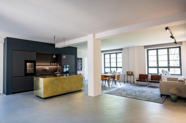 Stylische Idee: Küchenfronten aus Metall