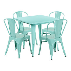 Flash Furniture 36 Round Laminate Table Set With Chairs