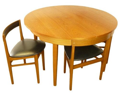 Mid Century Modern Teak Dining Set Hans Olsen Style   Dining Sets