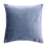 Light Denim Velvet Cushion, Hypo Allergenic Microfibre