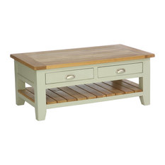 2-Drawer Rectangular Coffee Table, French Grey