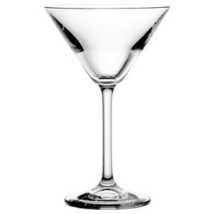Clear Lead Crystal Martini Glasses, Set of 6