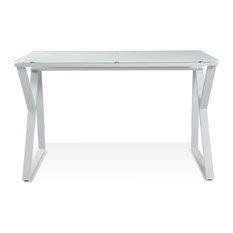 Unique Furniture Computer Desk With White Gl Top Desks And Hutches