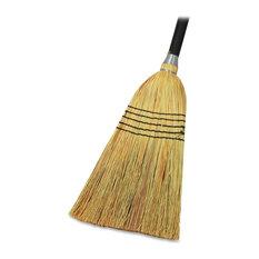 Genuine Joe Janitor Lobby Blend Broom, 11 Wide, 1 Each