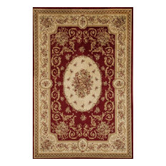 "Sorrento Medallion Red, 6'7""x9'6"""