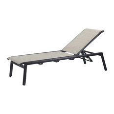 Echelon Sling Chaise Lounges, Set of 2, Carbon, System Stone