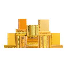 Modern Yellow Book Wall, Set of 50 Decorative Books