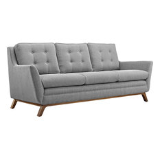 Prescot Upholstered Fabric Sofa Expectation Gray