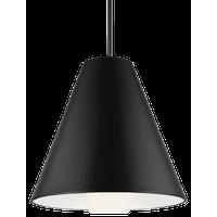 """Tech Lighting 700TDJNI-LED9 Joni 1 Light 17""""W LED Pendant - Matte Black / 3000K"""