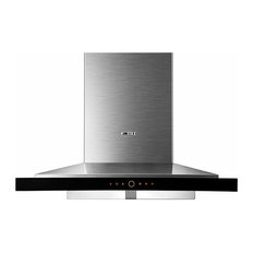 "FOTILE Wall-Mounted Chimney Stainless Kitchen Range Hood, LED, 36"", Touch Screen"
