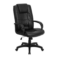 R My Friendly Office  MFO High Back Black Leather Executive Swivel  Chair Chairs