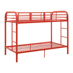 Acme Thomas Twin Over Twin Bunk Bed, Red