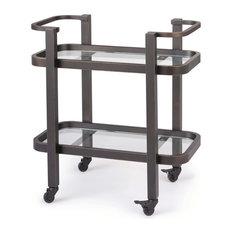 Carter Small Bar Cart, Oil Rubbed Bronze