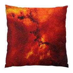 "Rosette Nebula Throw Pillow, 14""x14"", Stuffed"