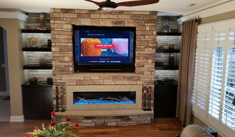 """LED 60"""" GAS FIREPLACE AND SONOS SYSTEM, WITHE CABINETS AND BOOK SHELVES"""