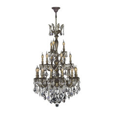 "Versailles 21 Light Antique Bronze Finish 3 Three Tier Crystal Chandelier 29""D"