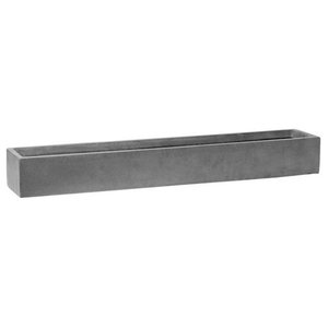 Window Box Fiberstone Low Grey Planter, 15x80x10 CM