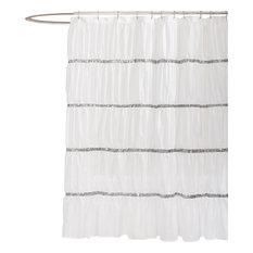 Lush Decor - Twinkle White Shower Curtain - Shower Curtains