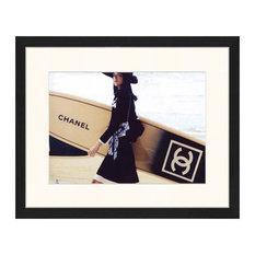 """Chanel Surfboard"" Framed Print, 40x50 cm"