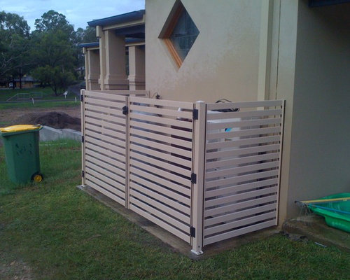 Pool Filter Enclosure Ideas air con covers Inspiration For A Contemporary Exterior Home Remodel In Brisbane