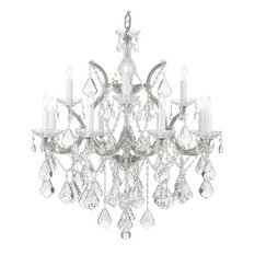 Maria Theresa Crystal Chandelier Silver