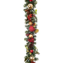 Rustic Wreaths And Garlands by TreeKeeper, Santa's Bags, Village Lighting Co.