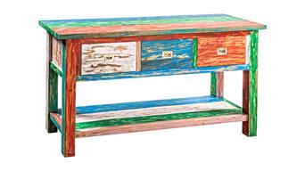 Boat Teak Cabinet, 3 Drawers