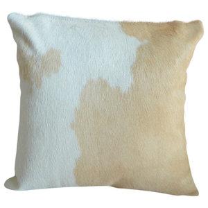 Pergamino Palomino And White Cowhide Pillows Modern Decorative Pillows By Pergamino