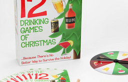 The 12 Drinking Games Of Christmas Game Set