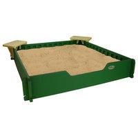 5 x 5 SandLock Sandbox with Cover + Seats