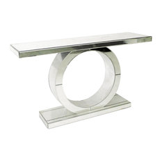 Mirrored Circle Console Table