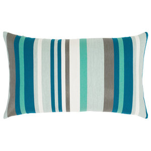 Elaine Smith Lagoon Stripe Lumbar Pillow