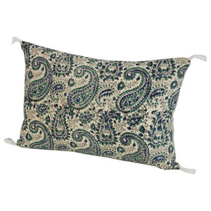 India Tasselled Paisley Scatter Cushion, 45x30 cm