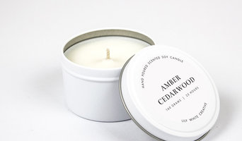 Amber + Cedarwood // 160G Tin Soy Candle