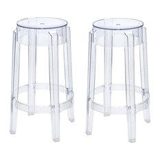 Ariel - Victoria-Style Ghost Bar Stools Clear Color Set of 2 - Bar  sc 1 st  Houzz & Polycarbonate Ghost Chair Bar Stools u0026 Counter Stools | Houzz islam-shia.org