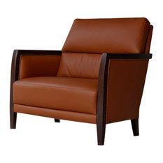 Tecninova - Tecni Nova Square Leather Armchair - Armchairs & Accent Chairs
