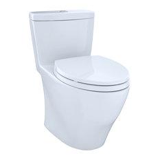 Toto Aquia Elongated 1-Piece Toilet, Cotton White, MS654114MF#01