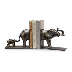 Elephant and Baby Bookends PR