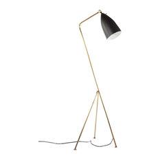 The Grasshopper Floor Lamp, Brass/Black