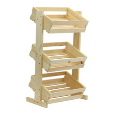 Crates & Pallet - 3-Tier Crate Stand - Storage Bins and Boxes